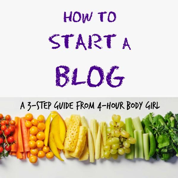 START A BLOG IN 3 EASY STEPS | www.4hourbodygirl.com