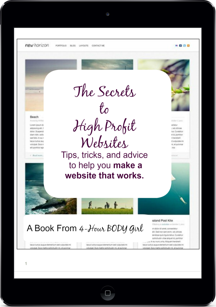 The Secrets  to  High Profit  Websites | www.4hourbodygirl.com