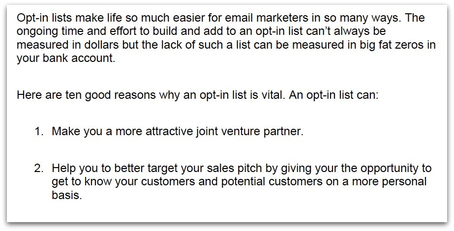 E-Mail Marketing Basics Screen Shot | www.4hourbodygirl.com