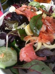 rainbow-seafood-salad | www.4hourbodygirl.com