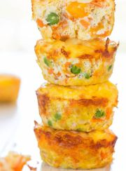CHEESE, VEGETABLE AND EGG MUFFINS| www.4hourbodygirl.com