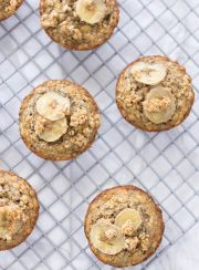 HEALTHY BANANA OAT MUFFINS | www.4hourbodygirl.com