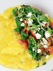 SKINNY GREEK OMELET {AND POACHED EGGS}| www.4hourbodygirl.com