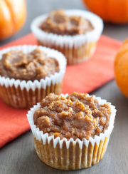 LOW CARB PUMPKIN MUFFINS FROM| www.4hourbodygirl.com