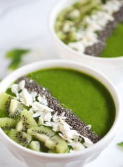 Green Smoothie Bowl | www.4hourbodygirl.com