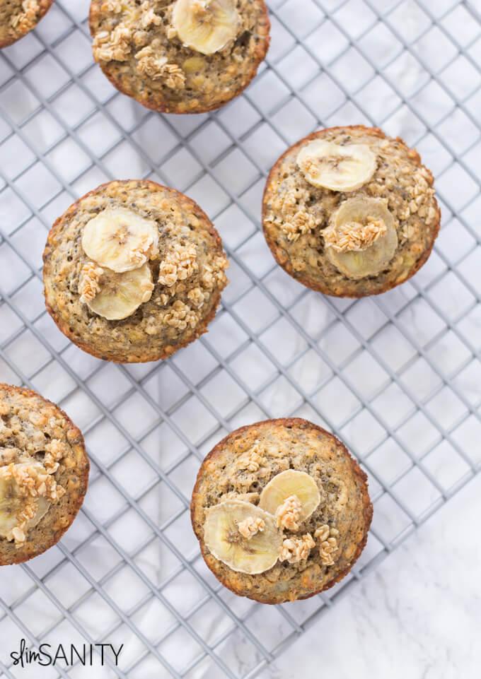 Banana-oat-muffins | www.4hourbodygirl.com